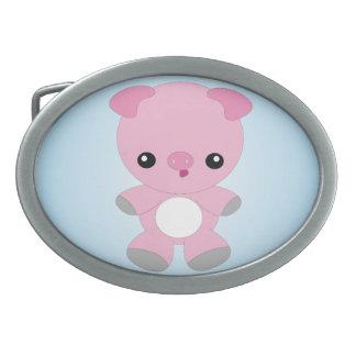 Hebilla del cinturón linda del cerdo del bebé hebillas de cinturón ovales