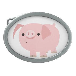 Hebilla del cinturón linda del cerdo del dibujo an hebilla cinturon oval