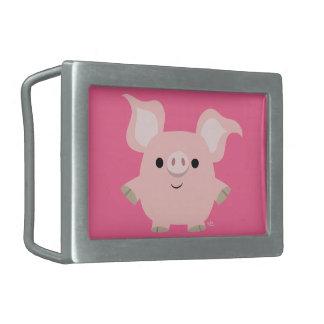 Hebilla del cinturón linda del cerdo del dibujo hebillas de cinturon rectangulares