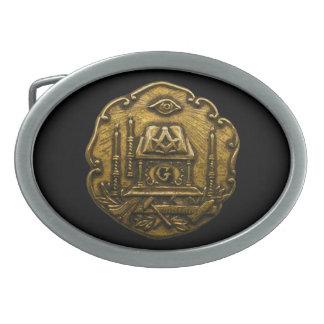 Hebilla del cinturón masónica del disco hebilla de cinturón oval