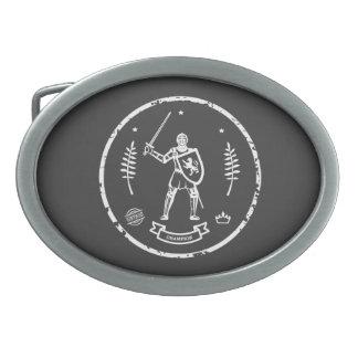 Hebilla del cinturón medieval del caballero hebilla cinturón oval