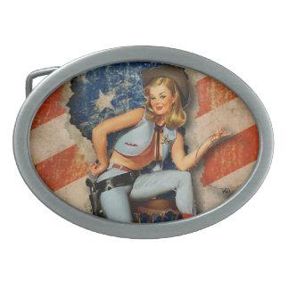 Hebilla del cinturón modela traviesa patriótica de hebilla cinturón oval