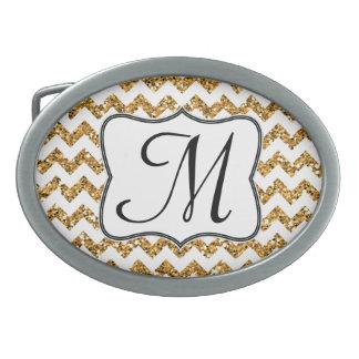Hebilla del cinturón moderna del monograma de hebilla cinturon oval