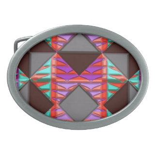 Hebilla del cinturón moderna del nativo americano hebilla cinturon oval