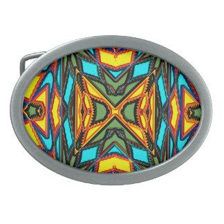Hebilla del cinturón moderna del nativo americano hebilla cinturón oval