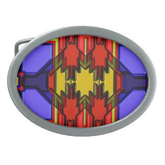 Hebilla del cinturón moderna del nativo americano hebillas cinturón ovales