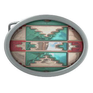 Hebilla del cinturón moderna del nativo americano hebillas cinturon ovales