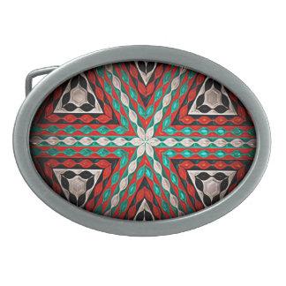 Hebilla del cinturón moderna del nativo americano hebillas de cinturon ovales