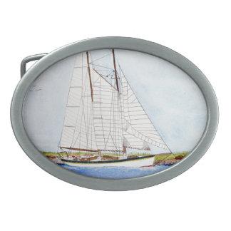 Hebilla del cinturón náutica del pirata del océano hebillas cinturón ovales