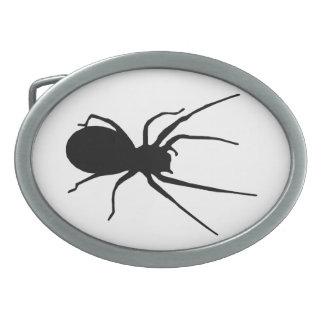 Hebilla del cinturón negra de la araña hebillas de cinturon ovales