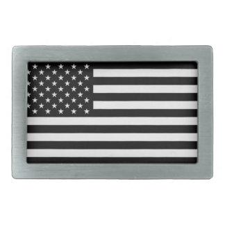 Hebilla del cinturón negra de la bandera americana hebilla cinturón rectangular