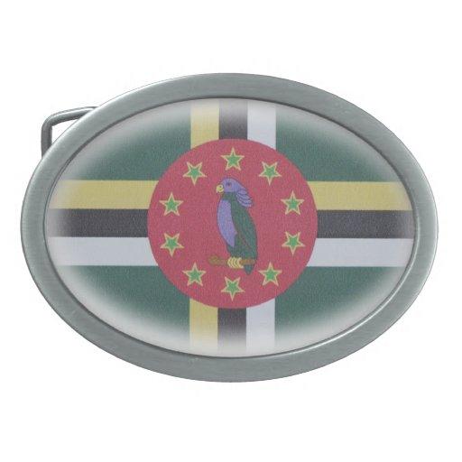 hebilla del cinturón oval de la bandera de Dominic Hebilla De Cinturon