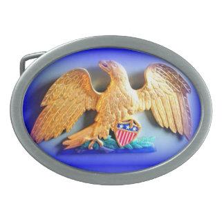hebilla del cinturón patriótica del águila del oro hebillas de cinturon ovales