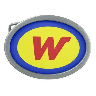 Hebilla del cinturón personalizada del super héroe hebillas cinturón ovales