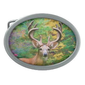 Hebilla del cinturón principal de los ciervos hebillas cinturon ovales