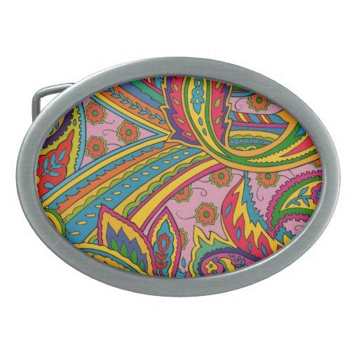 Hebilla del cinturón psicodélica del viaje por car hebillas cinturon ovales