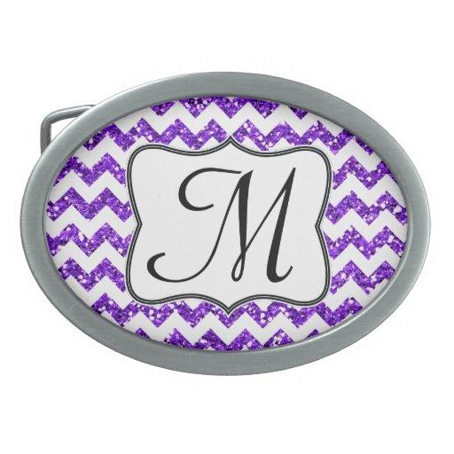 Hebilla del cinturón púrpura moderna del monograma hebillas cinturon ovales