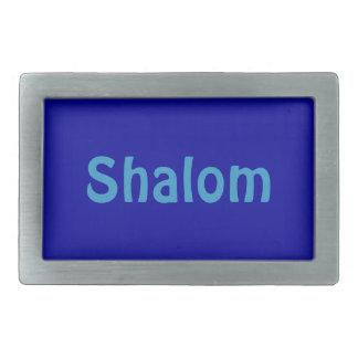 Hebilla del cinturón rectangular azul de Shalom Hebilla Cinturón Rectangular