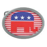 hebilla del cinturón republicana del elefante hebilla de cinturón