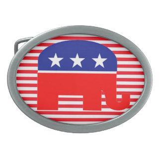 hebilla del cinturón republicana del elefante hebillas cinturón ovales