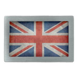 Hebilla del cinturón retra de la bandera británica hebillas cinturón rectangulares