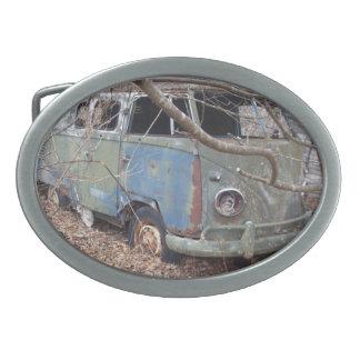 Hebilla del cinturón retra del autobús del Hippie Hebillas De Cinturon Ovales
