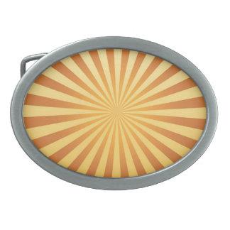 hebilla del cinturón, retra, luz del sol hebillas de cinturon ovales