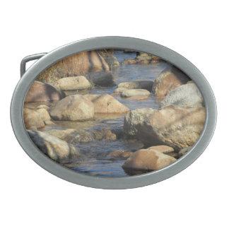 Hebilla del cinturón rocosa de la corriente hebillas de cinturón ovales
