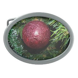 Hebilla del cinturón roja de Oranament de la bola Hebilla De Cinturon