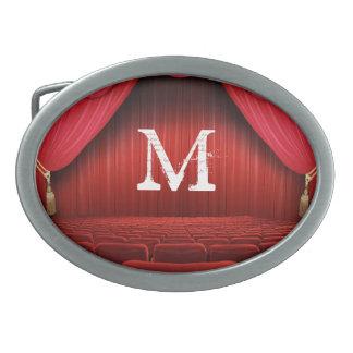 Hebilla del cinturón roja del monograma del teatro hebilla cinturón oval