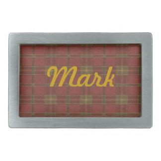 Hebilla del cinturón roja personalizada de la tela hebillas cinturon rectangulares