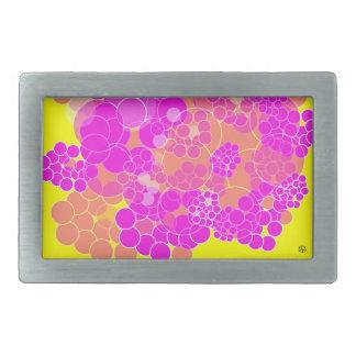 Hebilla del cinturón rosada 1 de la flor de la bur hebillas cinturón rectangulares