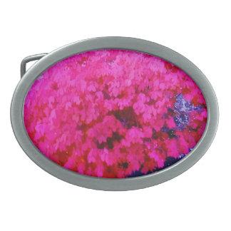 hebilla del cinturón rosada de la flor hebillas de cinturon ovales