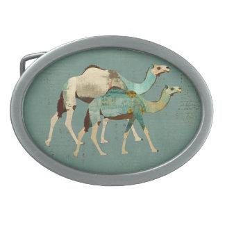 Hebilla del cinturón soñadora azul de los camellos hebillas de cinturon