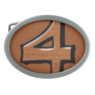 Hebilla del cinturón tonta del chocolate del hebillas cinturon ovales
