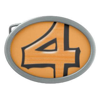 Hebilla del cinturón tonta del naranja del número hebilla cinturón oval
