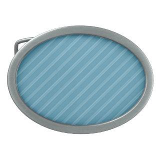 Hebilla del cinturón tricolora de las rayas azules hebillas de cinturón ovales
