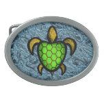 Hebilla del cinturón verde de la tortuga de Shell Hebillas Cinturon