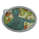 Hebilla del cinturón verde del hombre del ejército hebilla cinturon oval