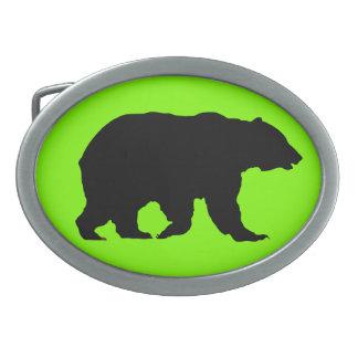 Hebilla del cinturón verde oval de Charteuse del o Hebilla Cinturón Oval