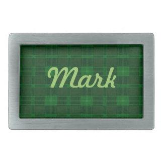 Hebilla del cinturón verde personalizada de la hebilla de cinturón rectangular