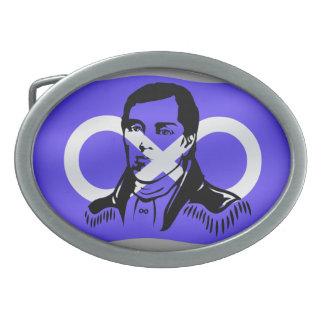 Hebilla del héroe de Cuthbert Grant Metis de la he Hebilla Cinturón Oval