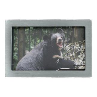 Hebilla del oso el gruñir hebilla de cinturón rectangular