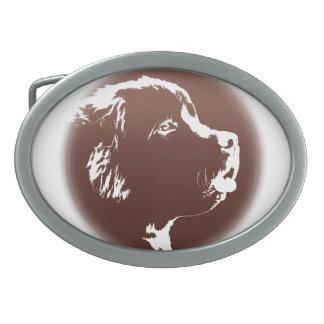 Hebilla del perrito de Terranova de la hebilla del Hebilla Cinturón
