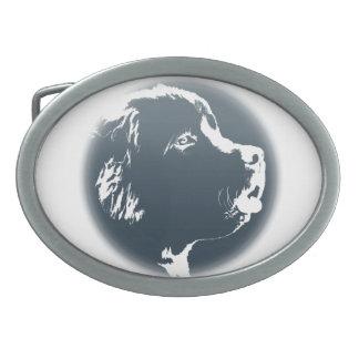 Hebilla del perrito de Terranova de la hebilla del Hebilla Cinturón Oval