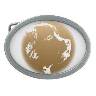 Hebilla del perrito de Terranova de la hebilla del Hebilla Cinturon Oval