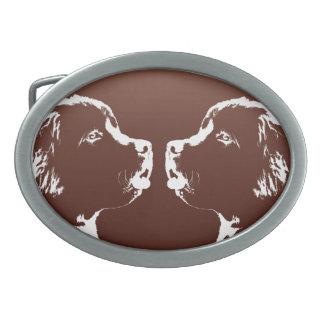 Hebilla del perrito de Terranova de la hebilla del Hebillas Cinturón Ovales