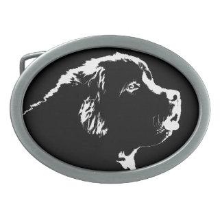 Hebilla del perrito de Terranova de la hebilla del Hebillas Cinturon Ovales