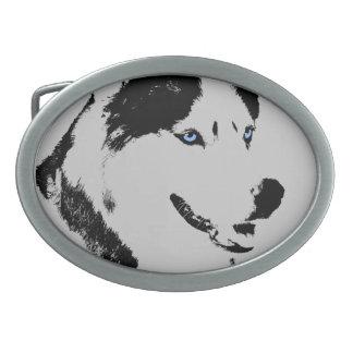 Hebilla del perro del Malamute de la hebilla del c Hebilla Cinturon Oval