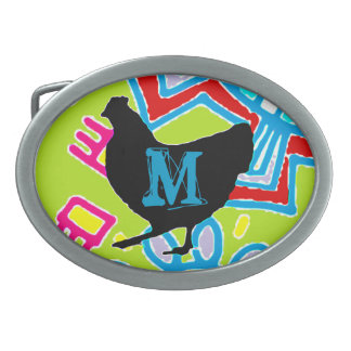 Hebilla del pollo - Cusomize o espacio en blanco d Hebillas Cinturon Ovales
